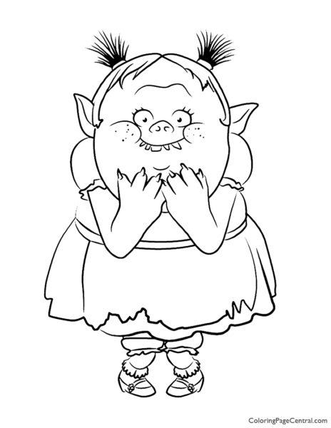 Trolls – Bridget Coloring Page 01