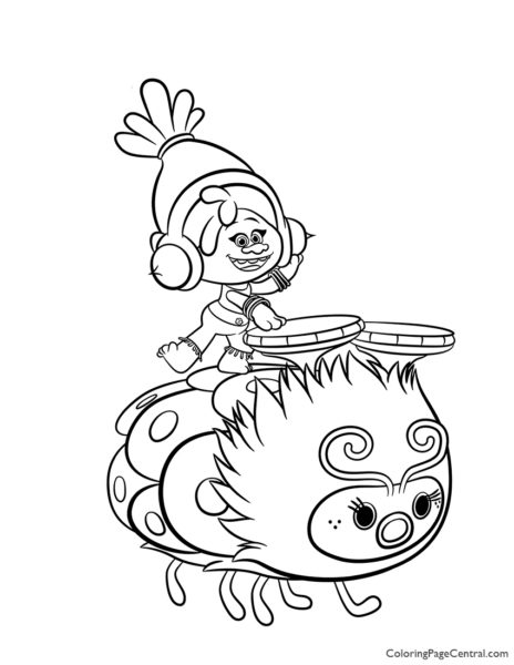 Trolls – DJ Suki Coloring Page