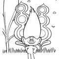 Trolls - Guy Diamond Coloring Page