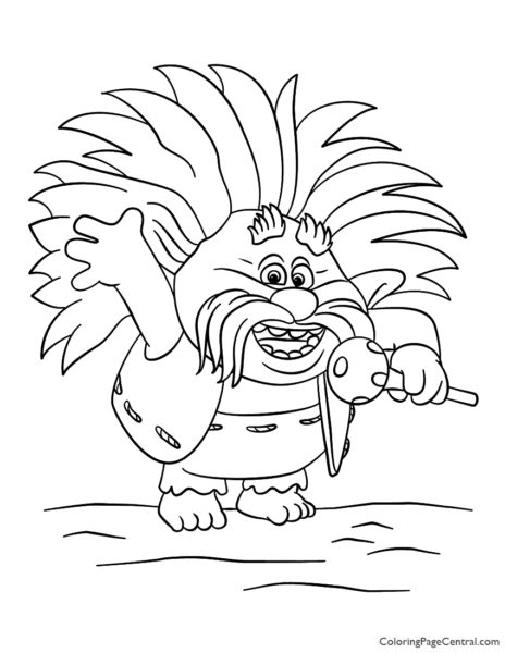 Trolls – King Peppy Coloring Page