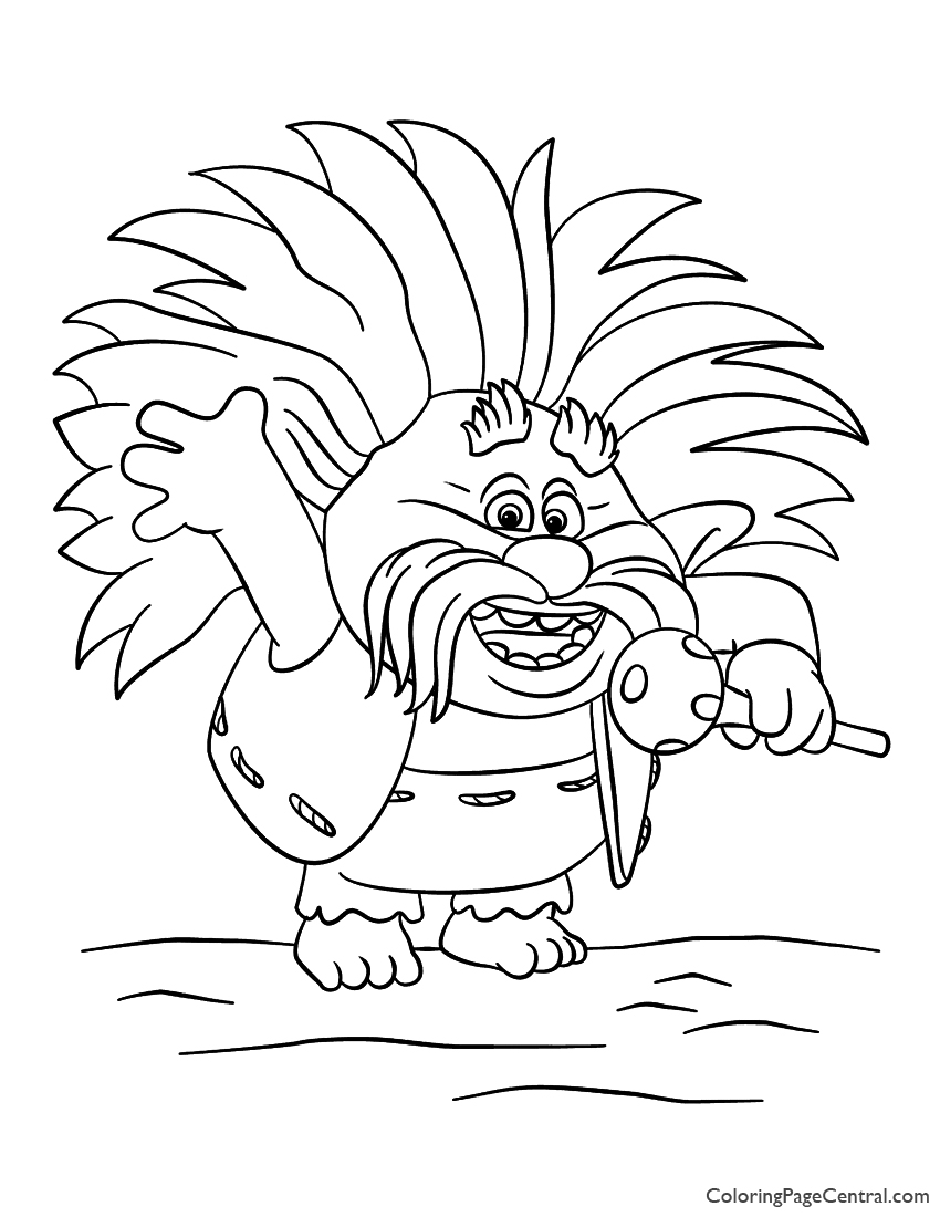 Trolls - King Peppy Coloring Page | Coloring Page Central
