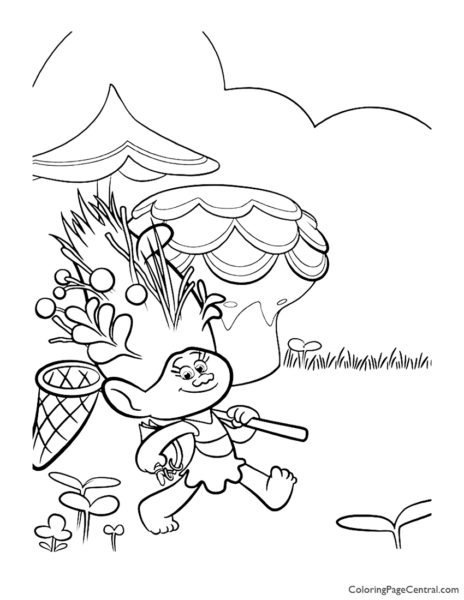 Trolls - Mandy Sparkle Dust Coloring Page 01
