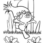 Trolls - Poppy Coloring Page 04
