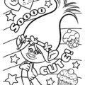 Trolls - Poppy Coloring Page 05