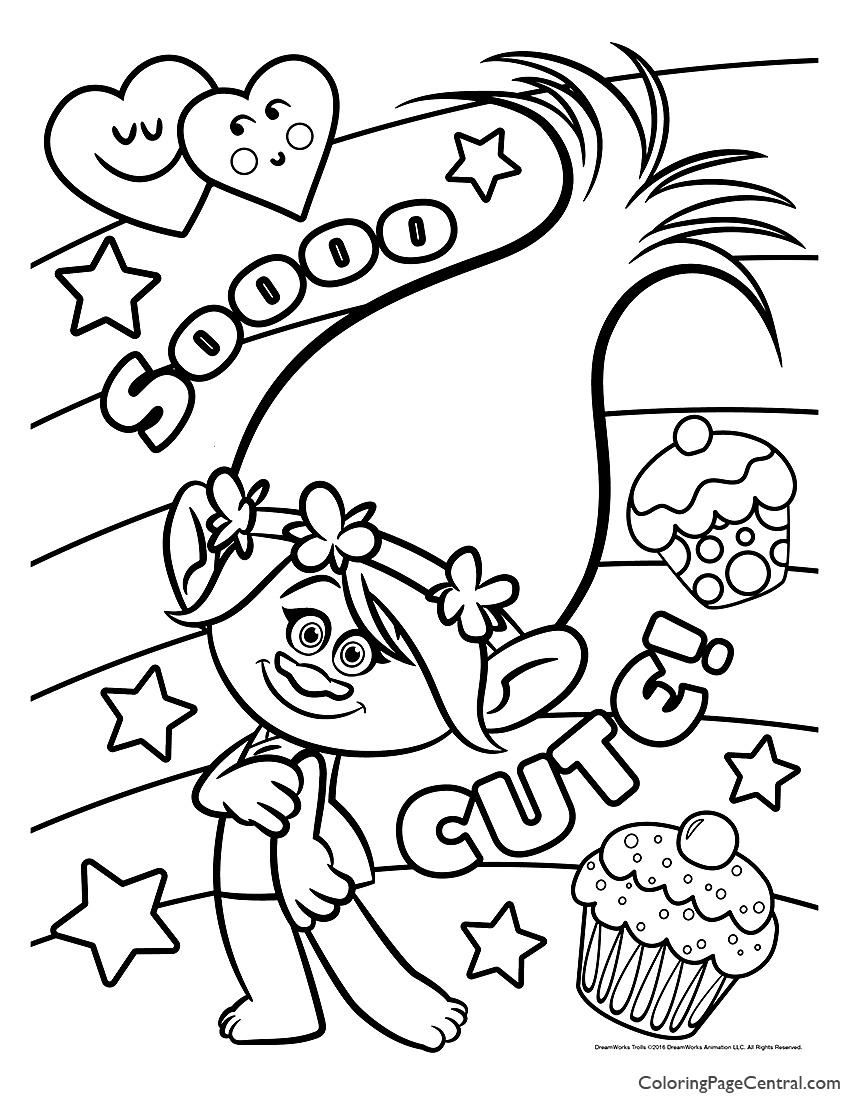 Trolls Poppy Coloring Page 05 Coloring Page Central