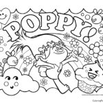 Trolls - Poppy Coloring Page 06