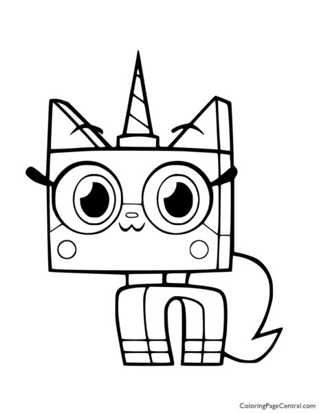 UniKitty Coloring Page 01