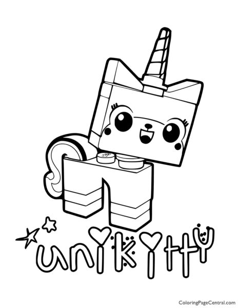 UniKitty Coloring Page 02