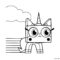 UniKitty Coloring Page 03
