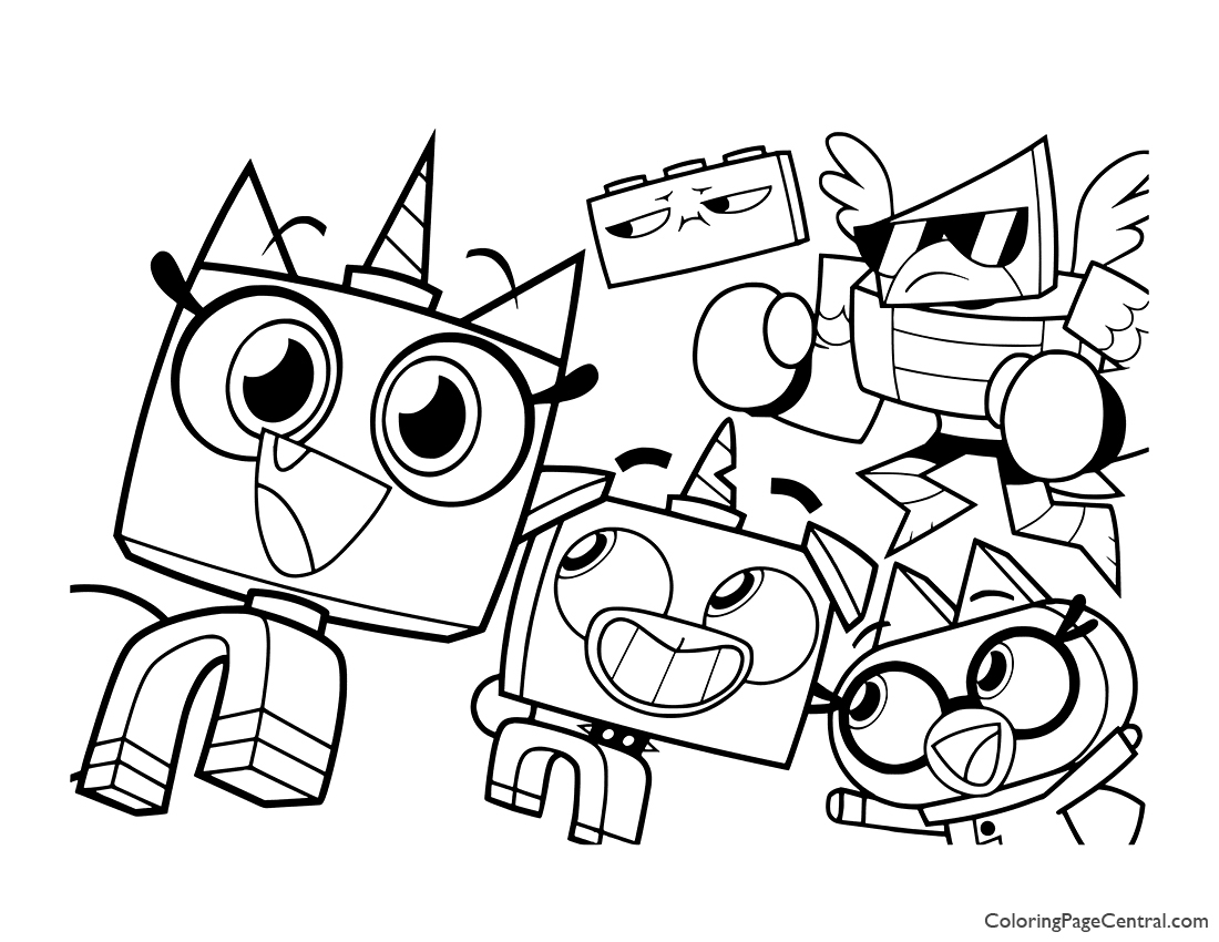 UniKitty Coloring Page 05 | Coloring Page Central