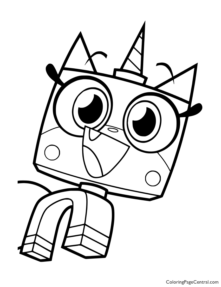 UniKitty Coloring Page 06 Coloring