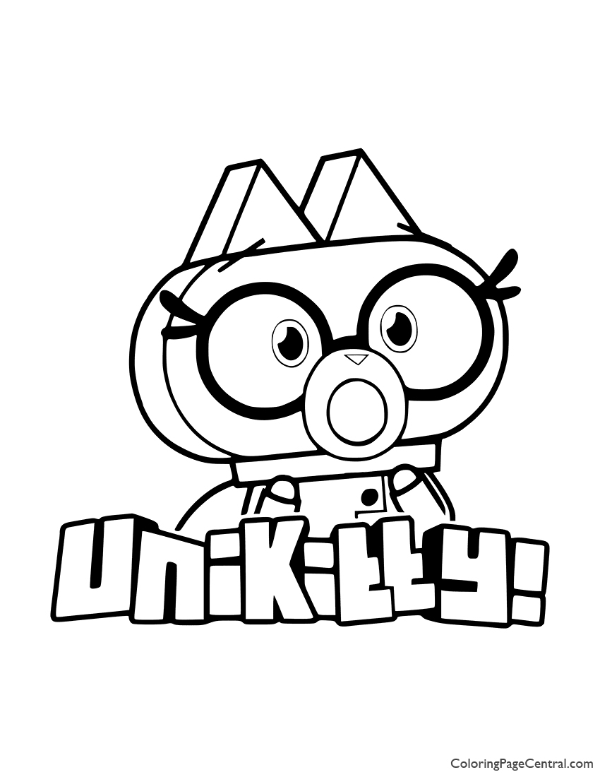 UniKitty - Dr Fox Coloring Page | Coloring Page Central