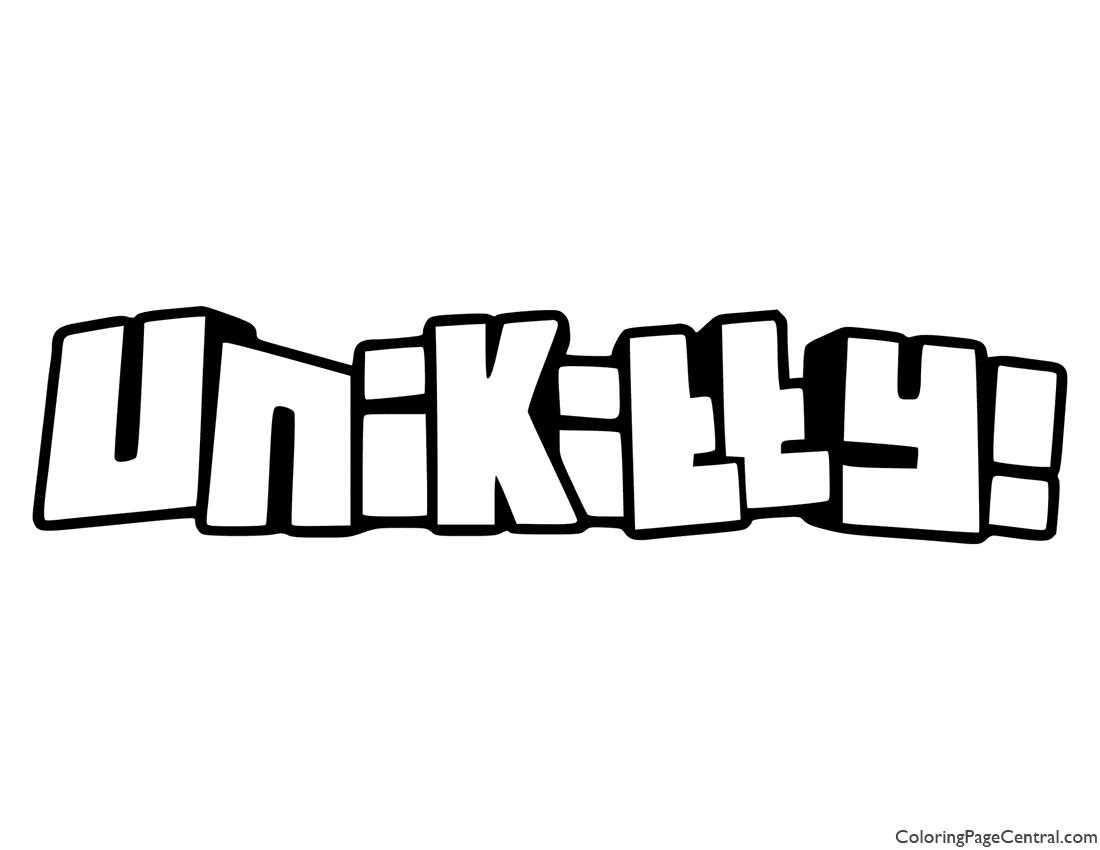 UniKitty Logo Coloring Page