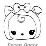 Num Noms - Becca Bacon Coloring Page