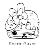 Num Noms - Berry Cakes Coloring Page