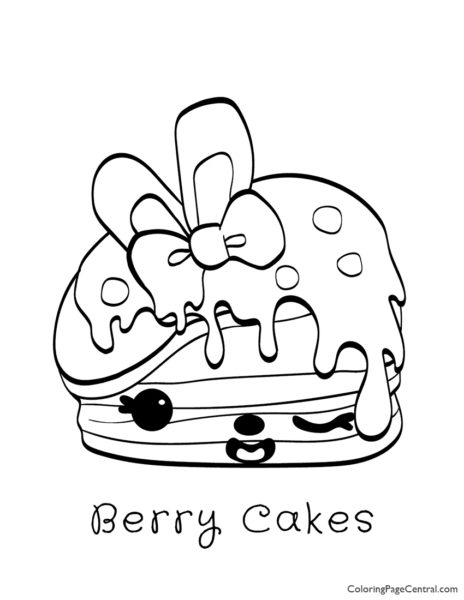 Num Noms – Berry Cakes Coloring Page