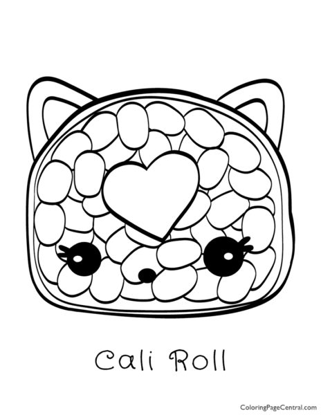 Num Noms - Cali Roll Coloring Page
