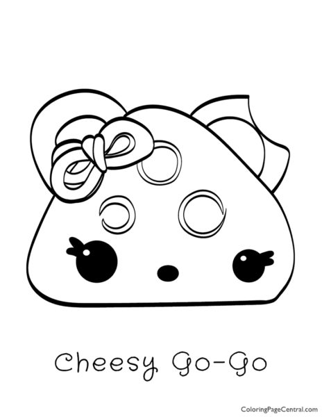 Num Noms – Cheesy Go-Go Coloring Page