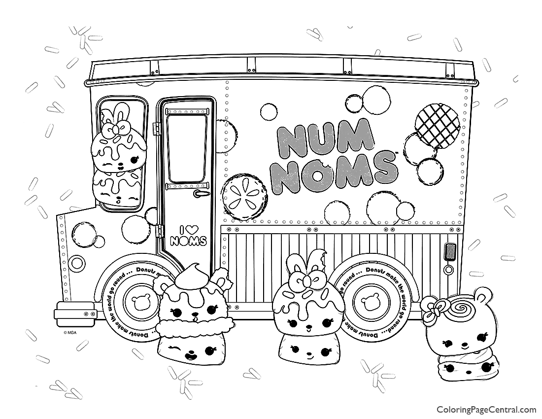 Num Noms Coloring Page 02 Coloring Page Central