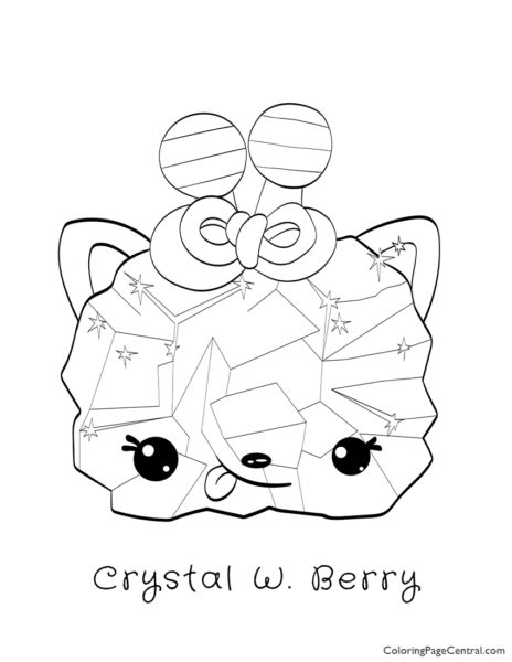 Num Noms - Crystal Wildberry Candy Coloring Page