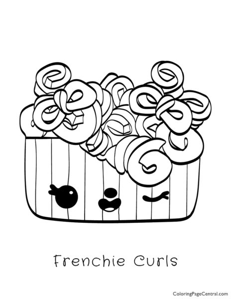 Num Noms – Frenchie Curls Coloring Page
