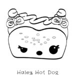 Num Noms - Haley Hot Dog Coloring Page