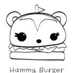 Num Noms - Hammy Burger Coloring Page
