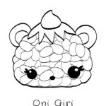 Num Noms - Oni Giri Coloring Page