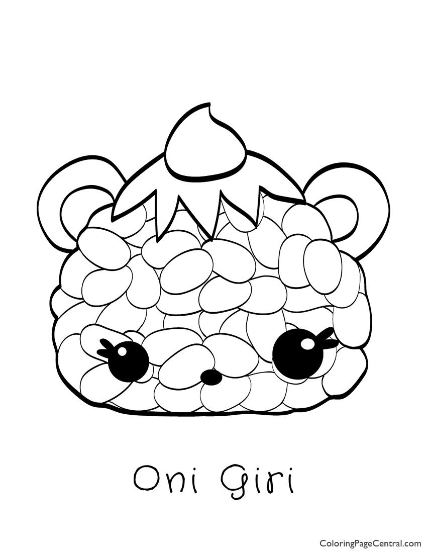 Num Noms - Oni Giri Coloring Page