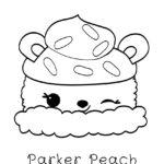 Num Noms - Parker Peach Coloring Page