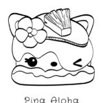 Num Noms - Pina Aloha Coloring Page