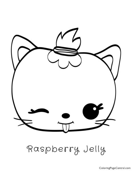 Num Noms – Raspberry Jelly Coloring Page