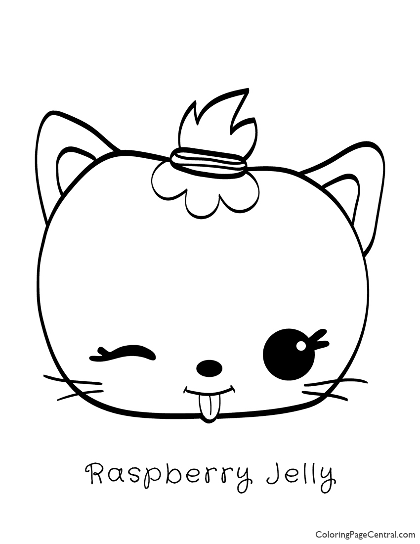 Num Noms - Raspberry Jelly Coloring Page