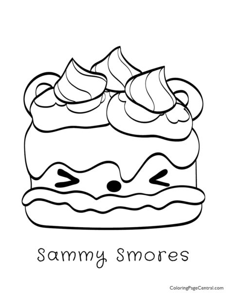 Num Noms – Sammy Smores Coloring Page