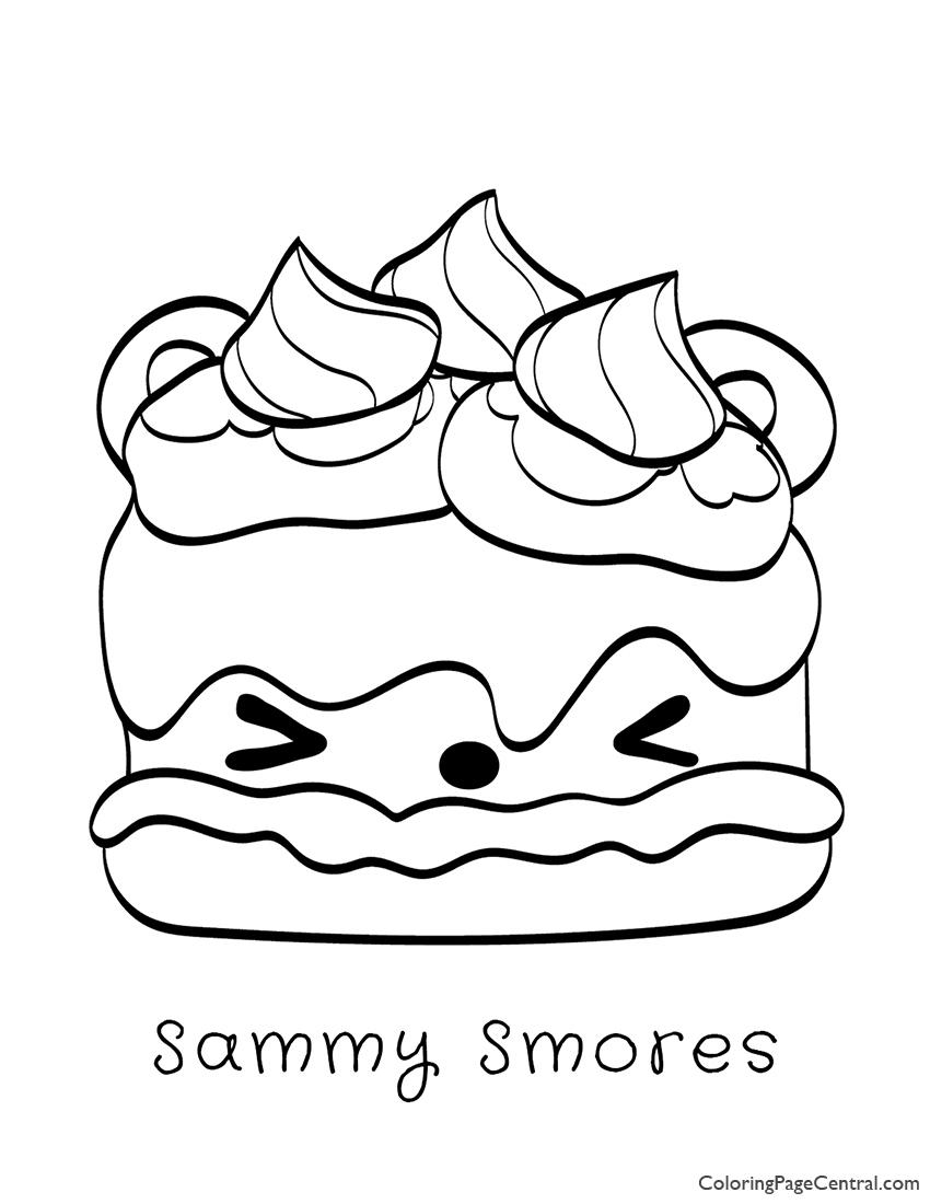 Num Noms - Sammy Smores Coloring Page
