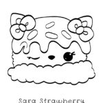 Num Noms - Sara Strawberry Coloring Page