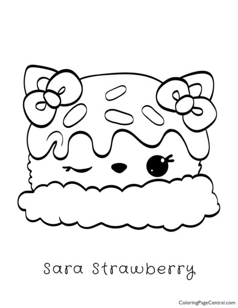 Num Noms – Sara Strawberry Coloring Page