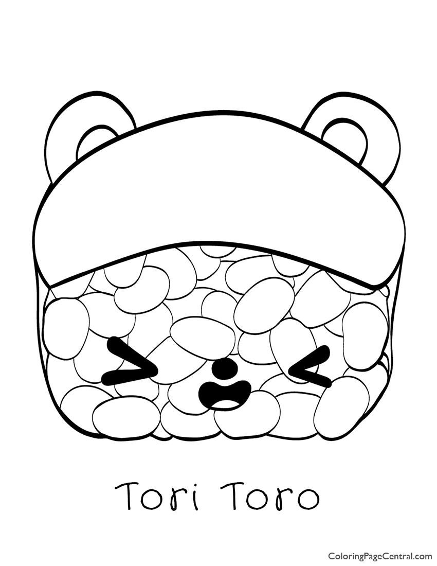 Num Noms - Tori Toro Coloring Page