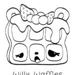 Num Noms - Willy Waffles Coloring Page