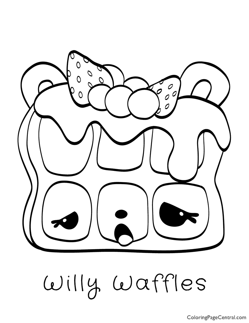 Num Noms Willy Waffles Coloring Page