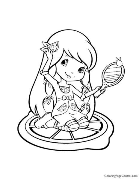 Strawberry Shortcake Orange Blossom coloring page | Free Printable ... | 600x464