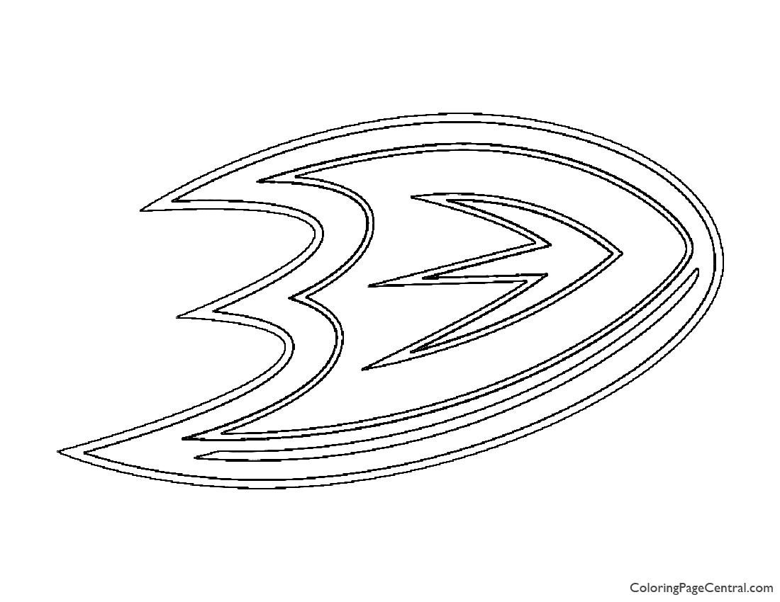 Nhl anaheim ducks logo coloring page