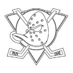 NHL - Anaheim Mighty Ducks Logo Coloring Page