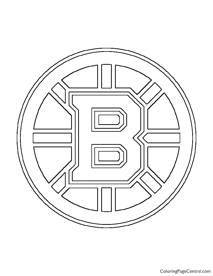 NHL - Boston Bruins Logo Coloring Page