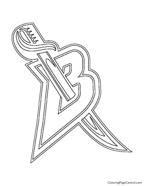 NHL - Buffalo Sabers Logo Coloring Page