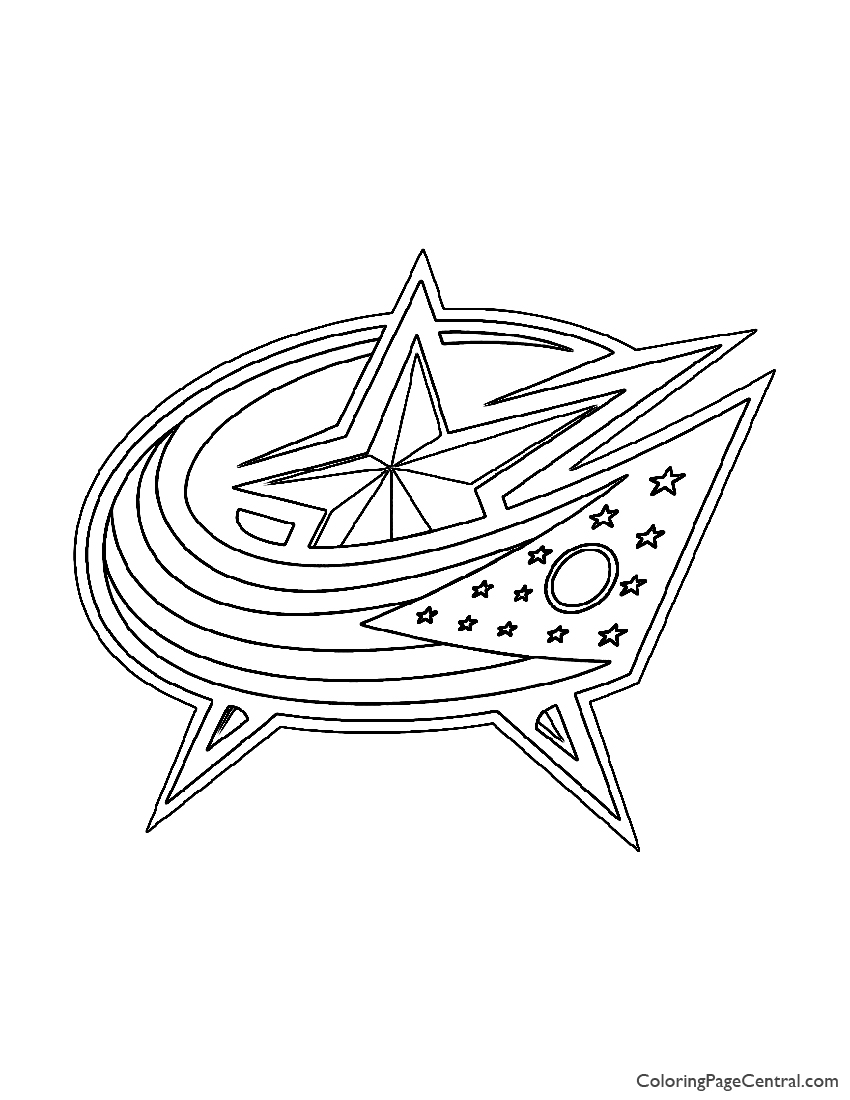 NHL - Colombus Blue Jackets Logo Coloring Page