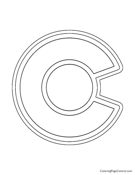 NHL - Colorado Avalanche Logo Coloring Page