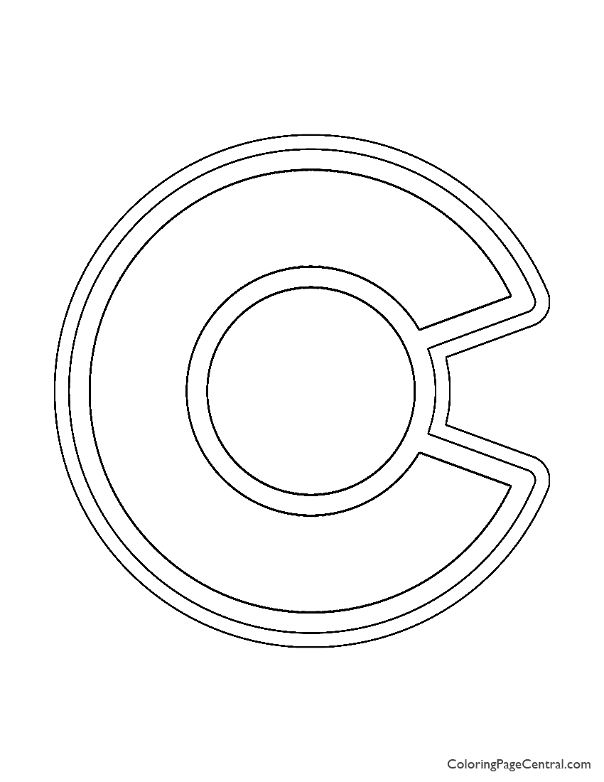 NHL - Colorado Avalanche Logo Coloring Page