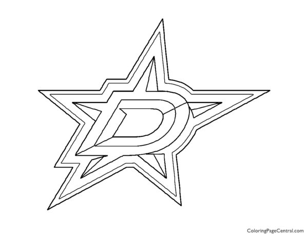 NHL – Dallas Stars Logo Coloring Page