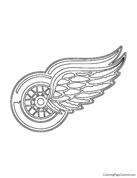 NHL - Detroit Red Wings Logo Coloring Page